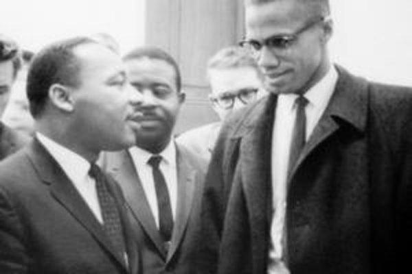 Malcolm X (vpravo) S Lutherom Kingom.