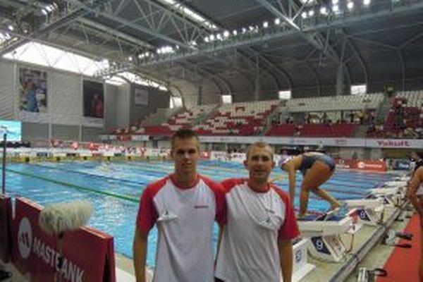 Krištofík (vľavo) s trénerom Procházkom.