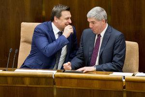 18. apríl 2016. Danko a Bugár  počas 2. schôdze Národnej rady SR.