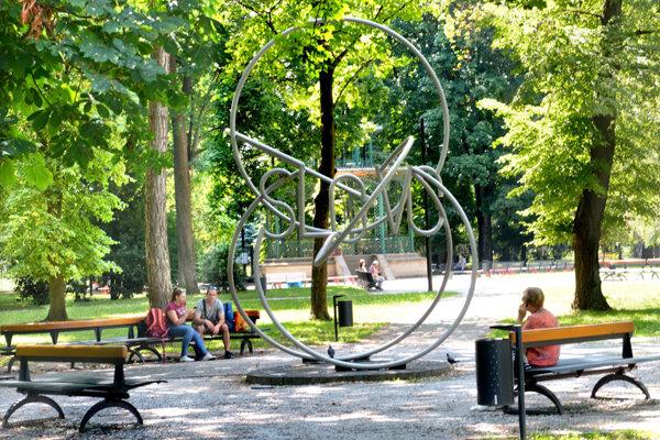 Mestský park v Košiciach.