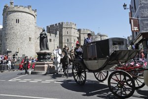 Koč počas generálky kráľovskej svadby.