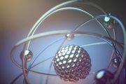 Trojrozmerný model atómu.