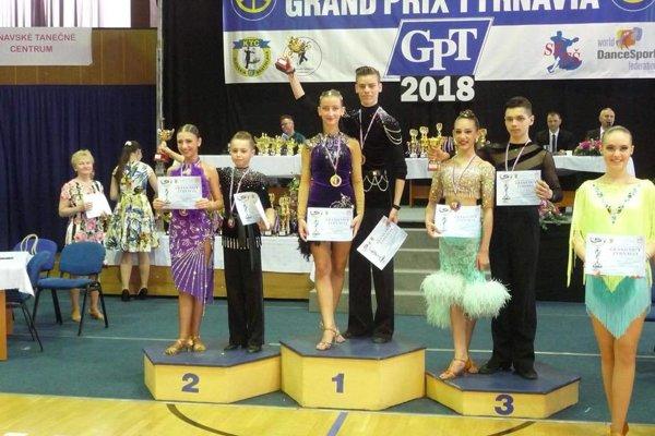 Imrich Zigo a Michaela Rajčanová - prvé miesto v latinskoamerických tancoch na Tyrnavii.