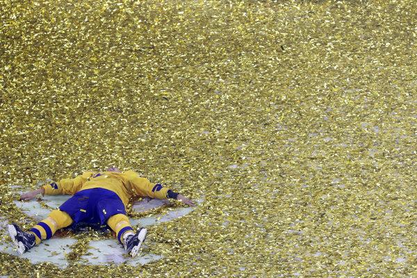 Aj takto Švédi oslavovali titul.