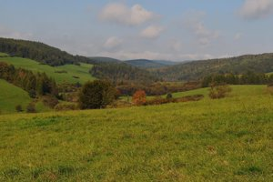 Na snímke pohľad na lesy v bývalom vojenskom obvode Javorina v okrese Kežmarok.