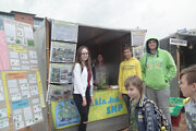 Základná škola SNP vPovažskej Bystrici sa na ekojarmoku predstavila zdravou výživou.
