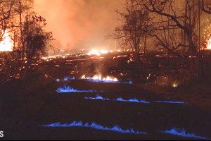 V okolí sopky na Havaji horel metán.