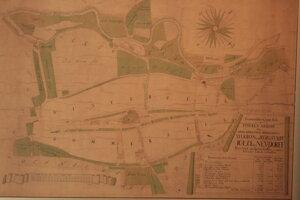 Geometrický plán námestia 1783