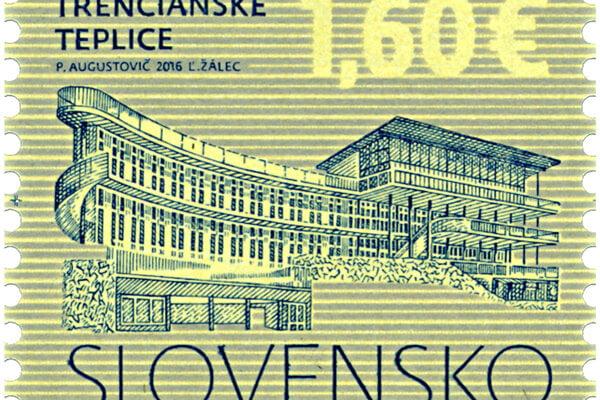 : Legendárne kúpalisko Zelená žaba v Trenčianskych Tepliciach sa objaví na poštovej známke.