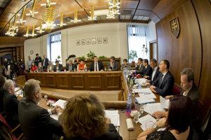 Zasadnutie zdravotníckeho parlamentného výboru.
