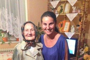 Oslávenkyňa. S vnučkou Margarétou.
