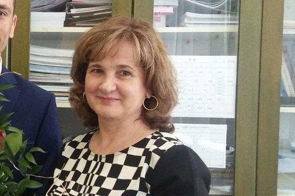 Riaditeľka Obchodnej akadémie Irena Halecká.