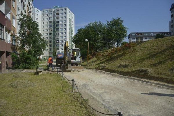 Práce na Bernolákovej ulici.