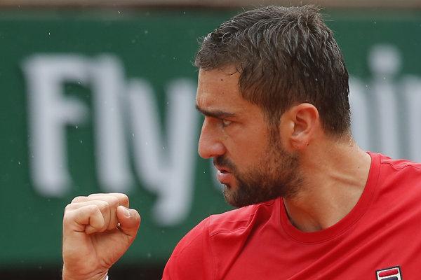 Chorvát Marin Čilič postúpil do druhého kola na Roland Garros.
