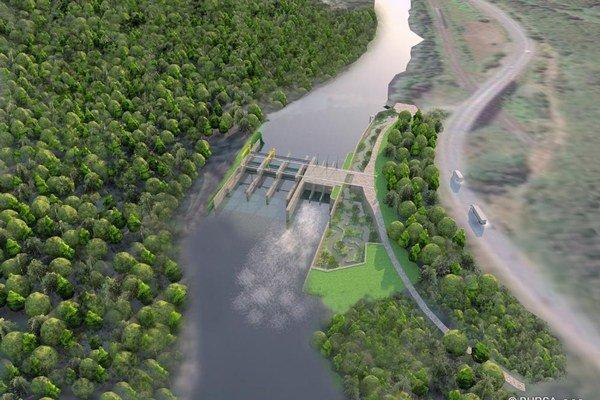 Vizualizácia - Malá vodná elektráreň Krivé.