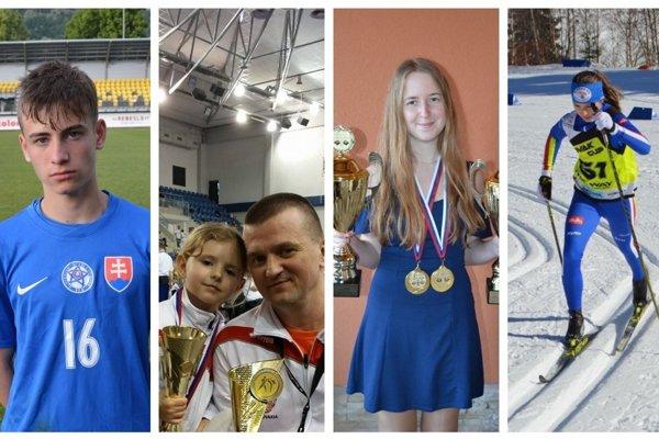 Zľava Marek Belko, Petra Jenčová, Stella Sáňková a Laura Roglová
