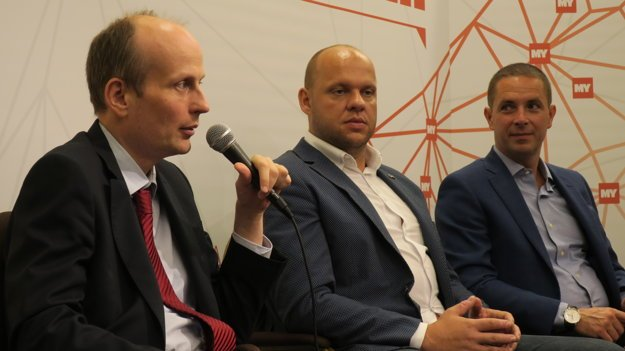 Peter Blaas, Martin Komínek a Tomáš Jaššo (zľava)