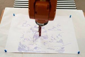 Kresliaci robot od Michala Adamíka.