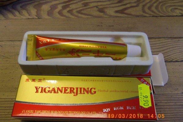 Nebezpečným výrobkom je čínsky krém neznámej značky i výrobcu predávaný ako Yiganerjing herbal antibacterial cream.