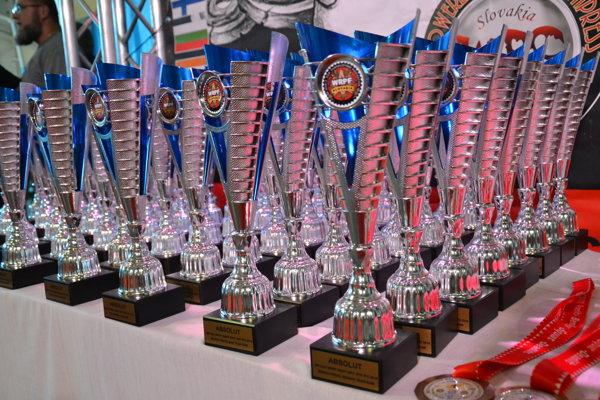Trofeje pre víťazov.