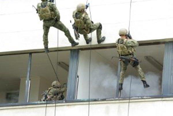 Nie každý deň môžeme byť svedkami zásahu špeciálnych jednotiek voči diverzantom či teroristom. Návštevníci posádky 5. pluku špeciálneho určenia videli v ukážkach, ako jednotka obsadila budovu s diverzantmi zásahom zo vzduchu i zo zeme. Nepriateľov spacifi
