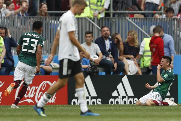 Mexičan Hirving Lozano sa raduje po svojom góle.