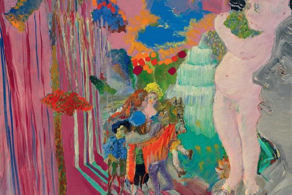 6.Ján Berger: Malebná scéna / Picturesque Scene. 1977 – 1981. Olej na plátne / oil on canvas. 95 × 110 cm. Majetok autora