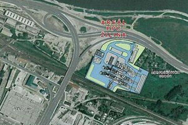 Miesto, kde by mala stáť elektráreň.