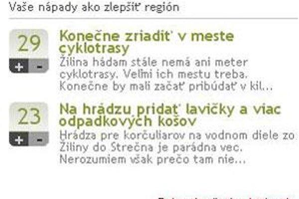 Novú službu nájdete v prvom stĺpci na hlavnej stránke zilina.sme.sk.