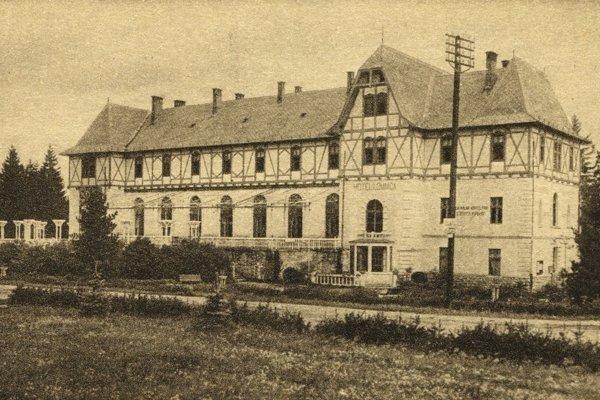 Hotel Lomnica vTatranskej Lomnici na začiatku 20. storočia.