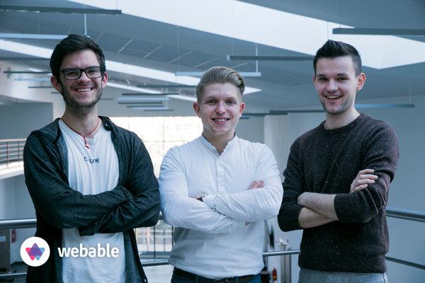zľava Martin Žák, Dávid Majerčák a Andrej Slaninka.