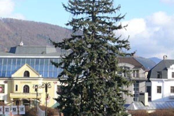 Vianočný stromček na Hlinkovom námestí ozdobili už minulý týždeň.
