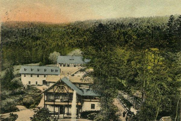 Kúpele Čierna Hora začiatkom 20. storočia.