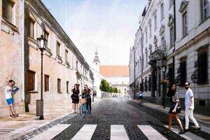 Takto by mala Hollého ulica vyzerať po dokončení.