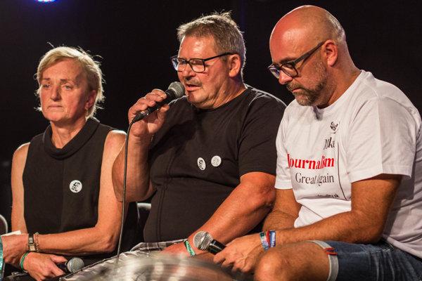 Zľava Zlatica Kušnírová, Jozef Kuciak a Peter Bárdy.