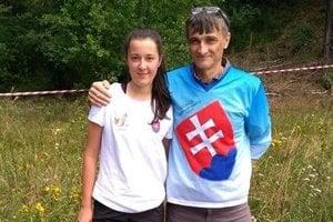 Terézia Kuriaková s trénerom Jánom Košutom.
