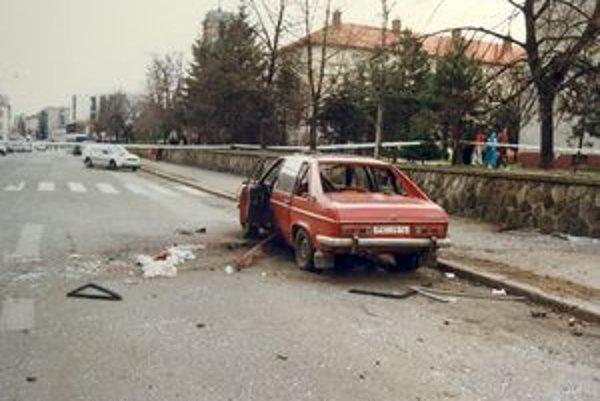 Automobil Miroslava Hlinicu.