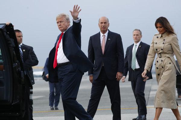 Americký prezident Donald Trump pricestoval do Bruselu na summit NATO.