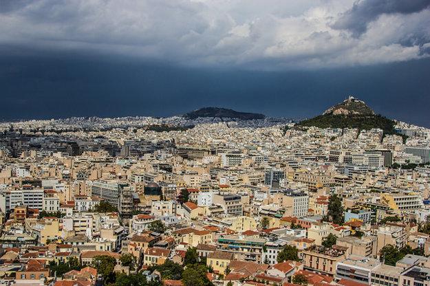 Kopec Lycabettus a Atény.