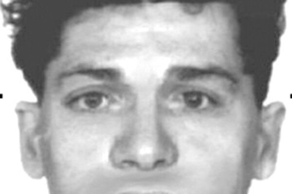 Policajný identikit neznámeho páchateľa.