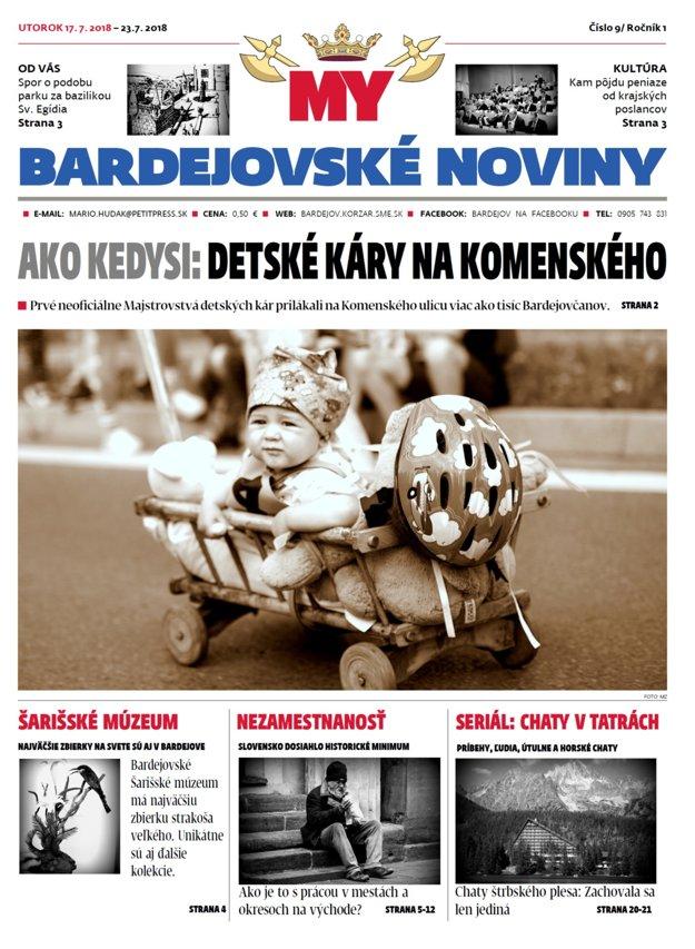 Titulná strana tohtotýždňových bardejovských novín č.28.