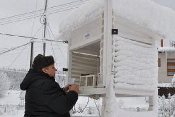 Meteorológ Ladislav Murín nameral pred Silvestrom v Oravskej Lesnej 24-stupňový mráz.