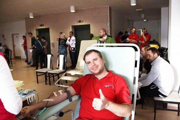 Darcovskej akcie sa zúčastnilo takmer päťdesiat darcov.
