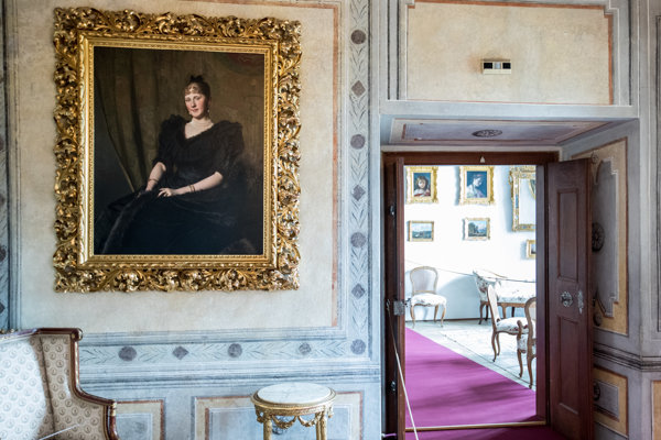 Pohľad do jednej zo sál šternberského hradu.