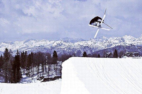 Igor Janckulík na trati v slovinskom lyžiarskou stredisku Vogel.