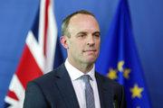 Britský minister pre otázky brexitu Dominic Raab.