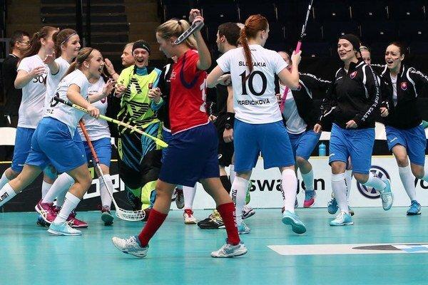 Po výhre nad Nórskom vypukla veľká radosť Sloveniek.