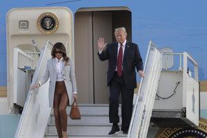 Prvá dáma Spojených štátov Melania Trumpová a americký prezident Donald Trump.