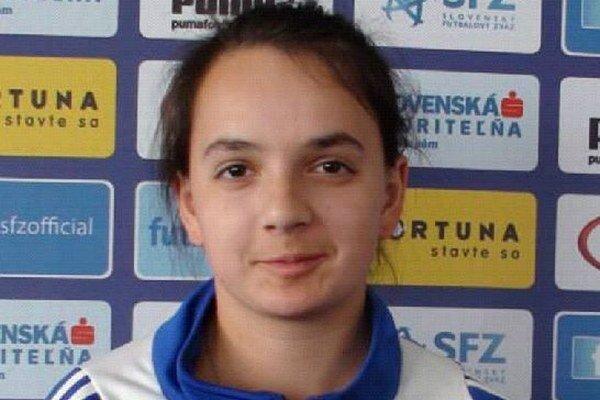 Bianka Brúniková v slovenskej ženskej reprezentácii.