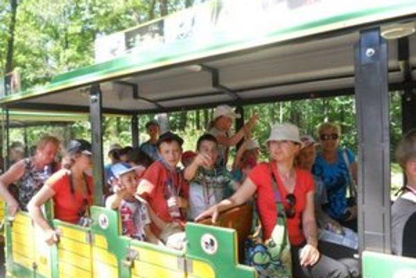 Deti doviezol do zoologickej záhrady vláčik.